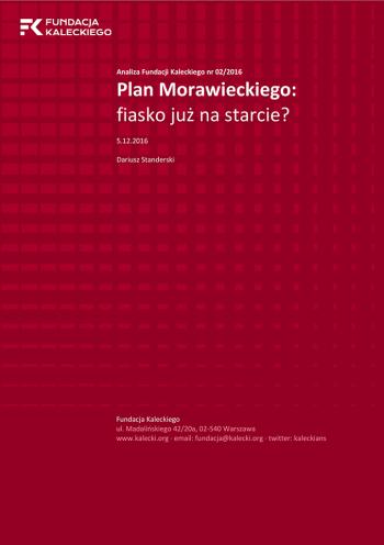 Plan Morawieckiego: fiasko już na starcie?